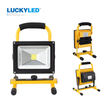LUCKYLED portable rechargeable led flood light 10W 20W Waterproof IP65 camping lamp outdoor Spotlight Floodlight car charger(China)