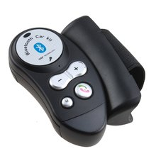 Bluetooth Car Kit Wireless Bluetooth 4.0 Steering Wheel Hands Free Car Kit Dual HFP&A2DP Built in MIC and Speaker Cellphones