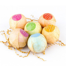 6PC Bath Bombs Bubble Bath Salts Ball Mesh Essential Oil Handmade SPA Stress bath shower ball flower drop shipping