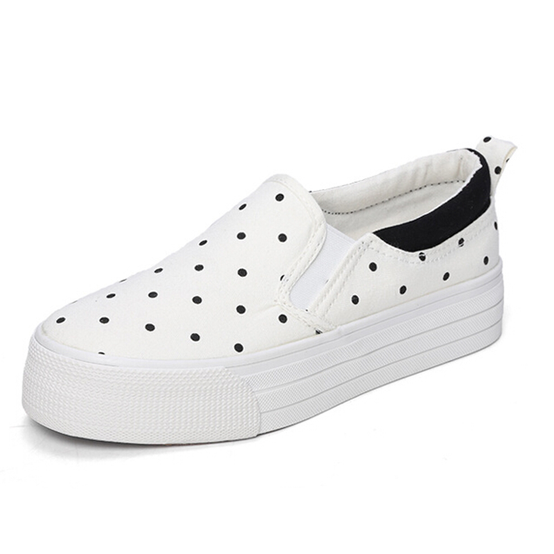 Dot a pedal lazy shoes thick crust muffin student to help low canvas shoes, casual shoes women Korean wave w225<br><br>Aliexpress