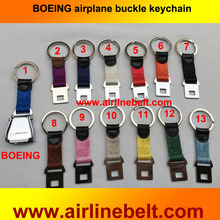 Boeing airline Brand aircraft airplane seat belt buckle keychain Pilot flying key chains free shipping keyring strap key ring
