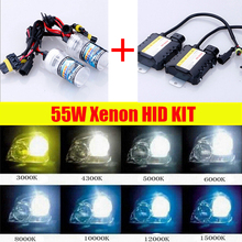 Cawanerl 55W Xenon HID KIT Ballast  Bulb H1 H3 H7 H8 H9 H10 H11 9005 9006 All Colors 4300-15000K Car Headlight Fog DRL Light