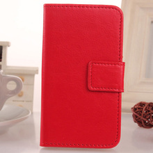 LINGWUZHE 6 Color Cell Phone With Card Pocket Flip Case PU Leather Cover For MTC Smart Sprint 4G 4.5''(China)