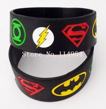 New 50 pcs Popular Superhero Wristband Silicone Bracelets For Man Women jewelry Gift Fashion Accessories H-111(China)