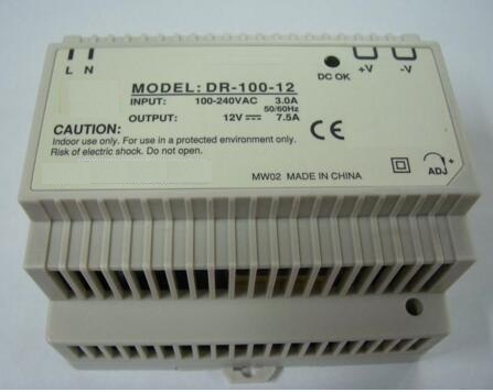 DR-100-12 100W 12V 7.5A Single Output Industrial DIN Rail Switching Power Supply Full Range AC Input<br>