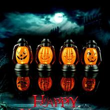 New Halloween Pumpkin Scene Decorative Props Luminous Night Light Kerosene Lamps Halloween Party Decoration Supplies Hot Sale