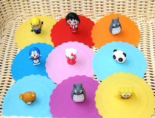 1pc Lovely Anti-dust Silicone Doraemon Cat Cup Cover Leakproof Coffee Lid Cap Airtight Sealed Cup Cover