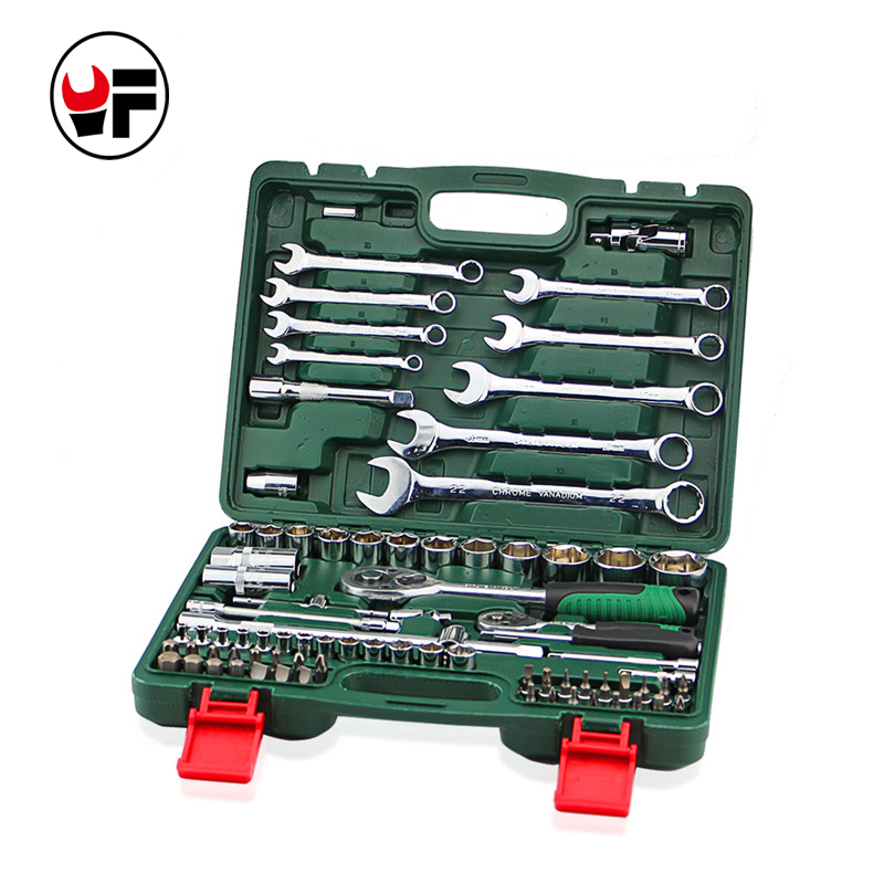 82pcs the key combination ratchet llave torque wrench 1/2 set auto repair hand tools for car kit a set of keys spanners HD3695<br>