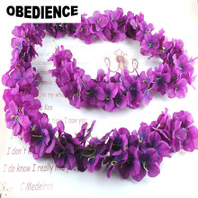 OBEDIENCE 1.8M Artificial Wisteria Flower Rattan Flower Vines Garlands For Wedding Party Centerpieces Decorations Home Ornament