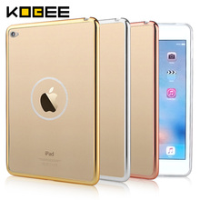 KOBEE Luxury Cover For Apple iPad mini 4 Tablet Case Transparent Gold Silicon Soft TPU Cover For iPad mini 4 mini4 Accessories(China)