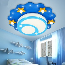 Children lamp room lamp ceiling light LED cartoon star moon warm Princess bedroom light Ceiling lamps ZA ET10(China)