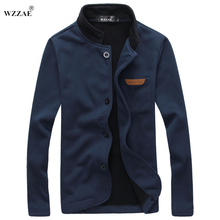 Men Jacket Plus Size M-5XL 2017 Brand New Fashion Stand Collar Men Jackets Autumn And Winter Casual  Men's Fleece Coat