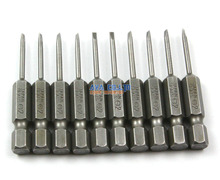 10 Pieces Slotted Screwdriver Bit S2 Steel Hex Shank 50mm Long 2mm Flathead Screwdriver Bits(China)