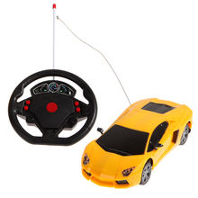 New 1/24 Drift Speed Radio Car Toy Steering Wheel Remote Control RC Racing Car with LED Flashing Light Cool Baby Indoor Toy Car(China)