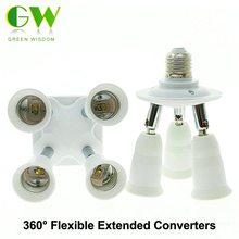 Lamp Holder Converters 360 Degrees Flexible Extended E27 1 to 3 / 1 to 4 / 1 to 5  Lamp Base