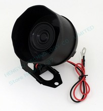 brand new 12V DC car van truck auto bike vehicle alarm warning siren horn security black 15W 1 tone car alarm siren SI01(China)