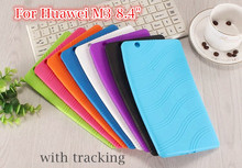 With tracking For Huawei MediaPad M3 BTV-W09 BTV-DL09 8.4 inch tablet Case Soft TPU /Silicone Clear Back Cover Case Multi-color(China)