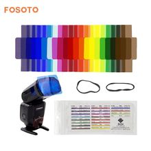fosoto 20pcs Flash Speedlite Color Gels Filters for Canon Nikon Sony Yongnuo DSLR Camera Speedlight Accessories Studio Lighting(China)