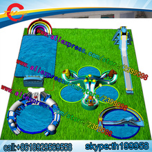 60mLby40mW commercial cheap   inflatable  amusement park,inflatable  fun city,giant inflatable water park games prices