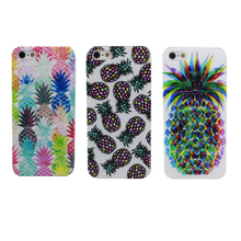 NEW NOVELTY Fruit Pineapple Transparent Case Cover For Apple i Phone iPhone 4 4S 5 5S 5C 6 6S 6 Plus 6SPlus(China)