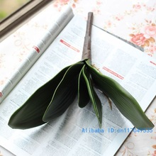 1 PCS Artificial Green butterfly orchid Leaf Plastic Flower Leaf Home Wedding Party Decoration F11