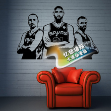 Free shipping diy vinyl basketball wall stickers The SAN Antonio spurs three giant wallpaper room wall decor for children
