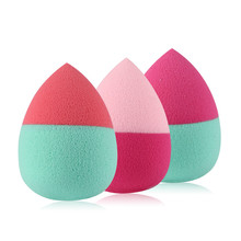 3pcs/set Double Color Water Drop Shape Cosmetic Puff Foundation Sponge Blender Blending Sponge Puff Flawless Smooth Powder Puff