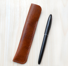 Genuine Leather Pen Pencil Pouch Fountain Bag Stationery Office Leader Pencils Case Holder School Office Supplies