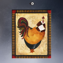 The best sales famous Tuscan Rooster I Art Print by  poster painting print on canvas for store & home decoration