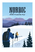 Nordic Adventures Skiing Travel Vintage Retro Decorative Poster DIY Wall Home Bar Posters Home Decor Gift