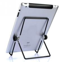 Practical Adjustable Angle Stainless Steel Stand Holder Foldable Flip Rack for iPad/Tablet/Motorola Xoom/BlackBerry Play(China)