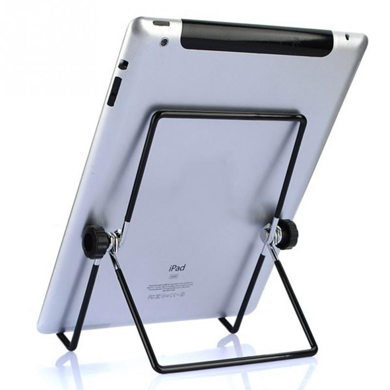 Practical Adjustable Angle Stainless Steel Stand Holder Foldable Flip Rack for iPad/Tablet/Motorola Xoom/BlackBerry Play(China (Mainland))