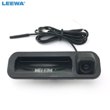LEEWA Car rear view camera For Ford focus 2012 2013 For focus 2 focus 3 Trunk handle camera color Night vision waterproof led(China)