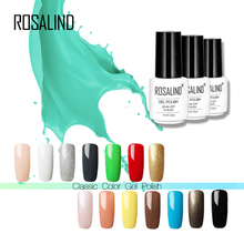 Rosalind 7ML Solid Color Series Gel Nail Polish White Bottle UV LED Semi Permanent Lacquer Gel Varnish(China)