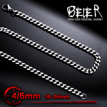 Stainless Steel Man's High Quality Fashion Wave Chain For Man Titanium Steel Necklace Chain BN1029