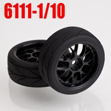 60PCS=30pairs x Tire 6111 1/10 ON ROAD RC CAR Wheel Rim & Tyre 1/10 Car Tires toy sports(China)