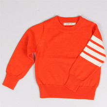 2016Autumn Winter New Boys Sweater Baby Girls Striped Sweater Children's Knitted Sweater Children Sweater Children Cute Knitwear(China)