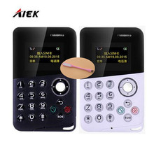 AIEK/AEKU M8 Mini Card Phone Low Radiation Bluetooth Message Color Screen Childrens Pocket Cell Phones PK AIEK M5 C6 X8(China)