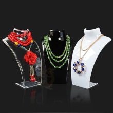 Hot Sale Three Colors 20*13.5*7.3CM Mannequin Necklace Jewelry Pendant Display Stand Holder Show Decorate Jewelry Display Shelf(China)
