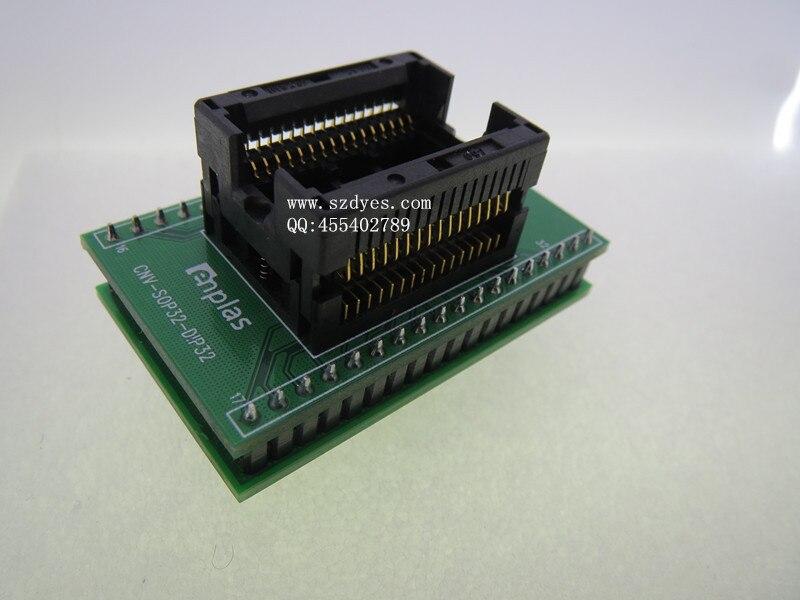 SSOP32 / DIP32 Programming burning seat IC test seat SSOP32 turn DIP32 original <br><br>Aliexpress
