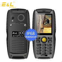 E&L PROOFINGS W3 IP68 Waterproof Shockproof Mobile phone Russian keyboard rugged phone GSM 2000mAh 2.2 inch Bluetooth Cell Phone
