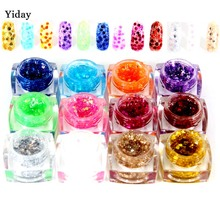 YiDay Large Sequins Colorful UV Gel Acrylic Nails Polish Styling Painting DIY Nail Art Decoration Manicure Tools Super Bling