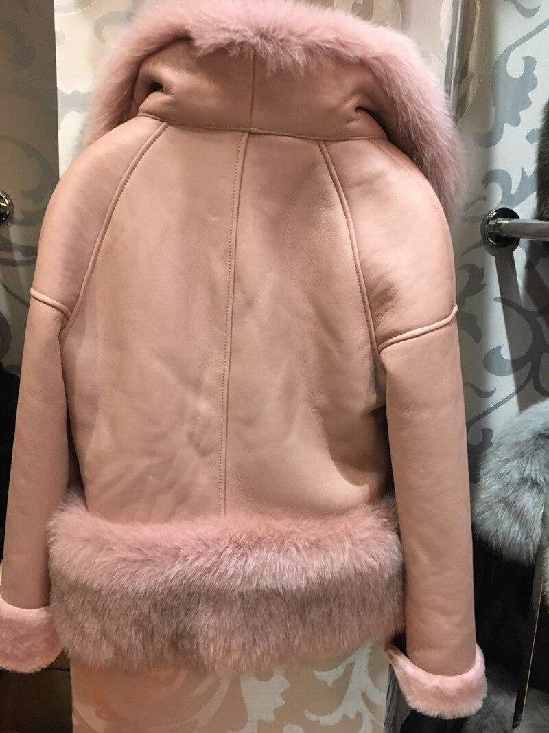 genuine sheep leatherskin jacket fox fur cooar coats (24)