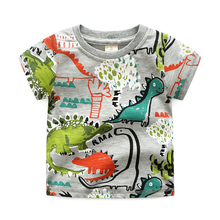 2017 summer new coming Boy Cartoon Crocodile Printing cotton short sleeve t-shirt, basic t-shirt(China)