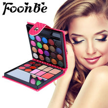 32 Colors Billfold Style Nude Cosmetic Eyeshadow Women Makeup Eyeshadow Pallette Lip gloss Blush Pressed Powder Combination(China)