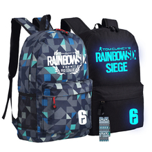 Steam Game Rainbow Six Seige League Backpack Anime bags Student Back to School Schoolbags AS Gift 45x32x13cm Boys Girls Mochila