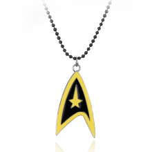 Star Trek Logo Necklaces Marvel Comic Series Hot Movie Cosplay Metal Pendant Fashion Jewelry(China)
