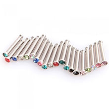 20 pcs Hot sale Color Mixing Fashion Body Piercing Jewelry Mixed Fish Hook Nose Nail New(China)