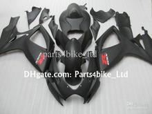 custom matte black fairing kit for 2006 2007 SUZUKI GSXR 600 fairings GSXR 750 K6 K7  06 07