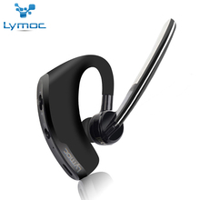 Lymoc V8 Business Bluetooth Headset Wireless Earphone V4.1 Voice Control Support 2 Cell Phones Connect MIC Handfree Sport Office
